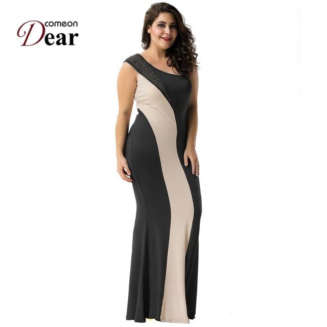 Comeondear Vestido De Festa Sereia RJ80164 Striped Women Dresses ...