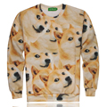 ISWAG 1991INC Newest style 3D funny DOGE hoodies men's sweatshirts o-neck Long sleeve pullovers size S M L XL