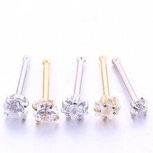 2-5 шт./упак. 20G кольца для носа Серебро Золото пирсинг ювелирные изделия маленькие серьги для женщин модные