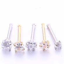 2-5PCS/PACK 20G Nose Studs Rings Silver Gold Body Piercing jewelry Small Earrings For Women Gilrs fashion