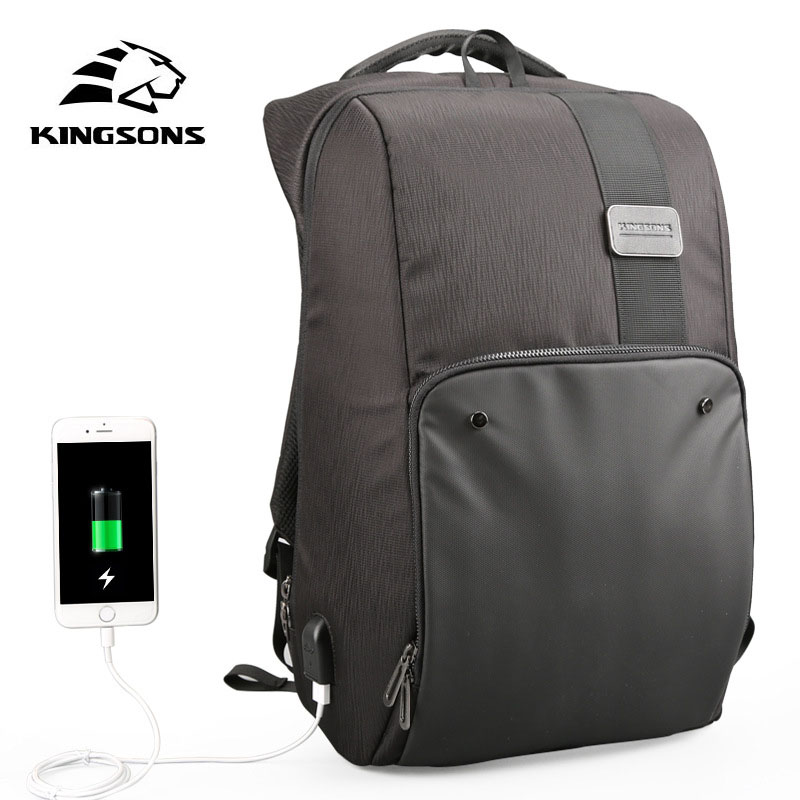 Kingsons Men's Laptop Backpack USB External Charging Computer Anti-Theft Backpack 17 inch Waterproof Laptop Backpack Female 15 6 17 inches man multi functional backpack external charging usb laptop backpack anti theft students waterproof travel bags