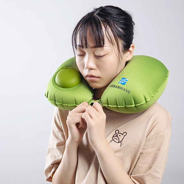 Inflatable Pillow 4 Piece Set Travel Cervical U-type Automatic Inflatable Folding Portable Accessories 3