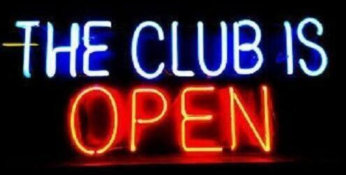 Custom The Club Is Open Neon Light Sign Beer Bar