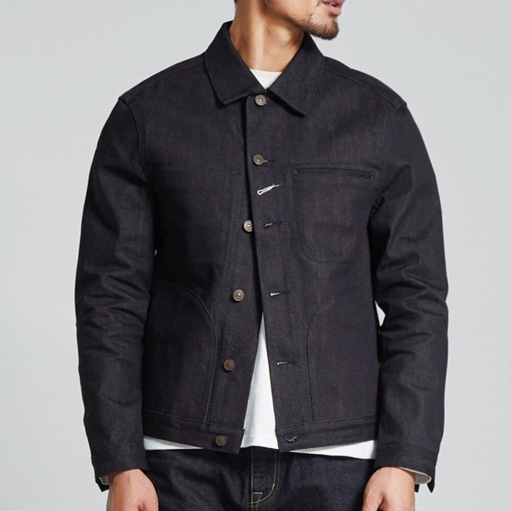 2017 メンズ秋冬デニムボンバージャケットコート高品質ジャケットメンズ革製ジャケットやつストリート服  グループ上の メンズ服 からの ジャケット の中 1