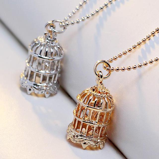 Exquisite trendy bird cage necklaces pendant for men women exquisite trendy bird cage necklaces pendant for men women accessories vintage gold color long chain necklace mozeypictures Choice Image