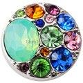 D02227 Strass mais novo botão rivca botão de pressão para 18mm botão snap jóias