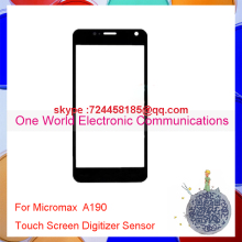 One World High Quality For Micromax A190 Smartphone Touch Screen Digitizer Touch Sensor Glass Panel Black Free Shipping