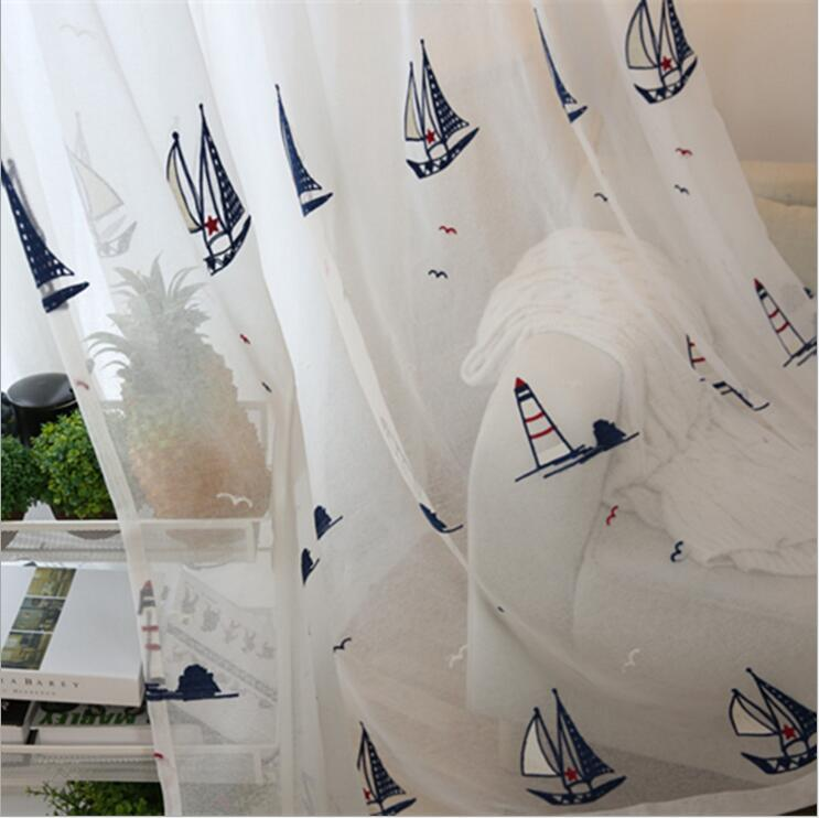 Children U0027s Room Tulle Sheer Curtains,embroidery Screens Of The Mediterranean  Style Baby Room Curtains In Curtains From Home U0026 Garden On Aliexpress.com  ...
