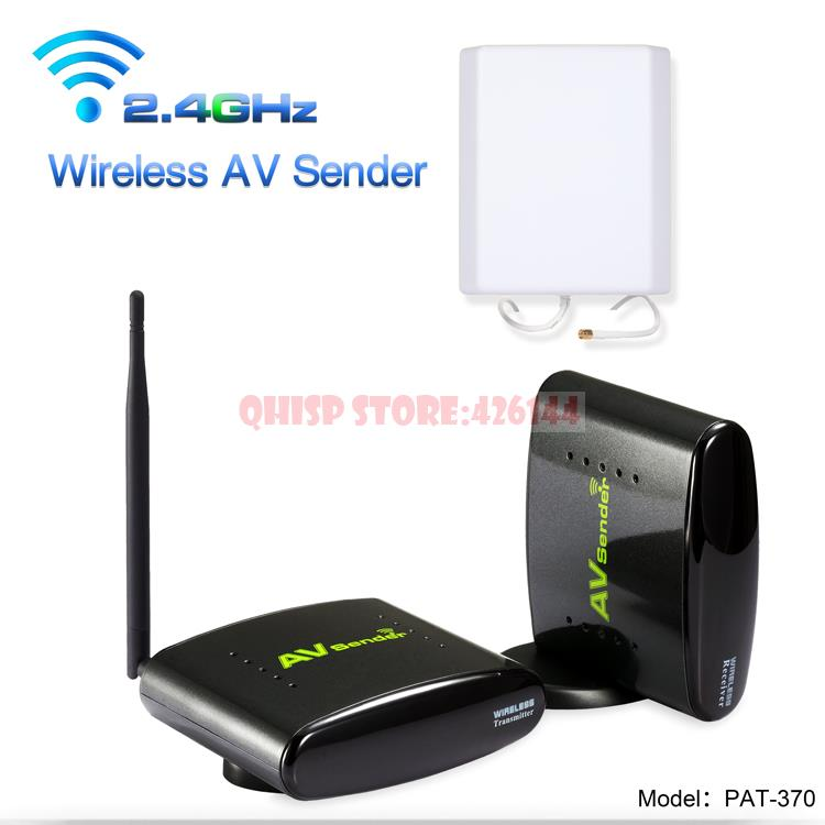 PAT-370 2.4GHz 500m Wireless AV A/V Audio Video Sender Transmitter and Receiver With EU US UK AU Plug for PAT370 wireless av sender and receiver pat 350 2 4g 250m wireless a v audio video sender transmitter and receiver with eu us uk au plug