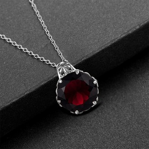 Image 5 - Szjinao Garnet Pendant Gemstone Wedding Accessories Handmade 925 Sterling Silver Rotate Dancing Fashion Women Jewelry 2020