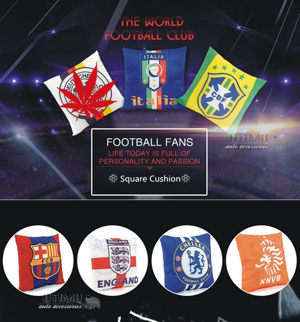 World Cup Football Decorative Pillow Seat Pillow Automobile Cotton Throw Pillow Cushion for Car Sofa Home Decoration