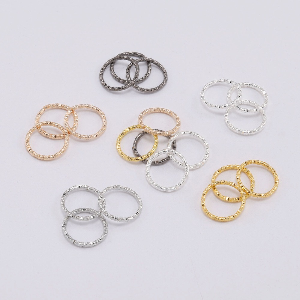 50-100pcs 8-20mm Round Jump Rings Twisted Open Split Rings Jump Rings Connector For Jewelry Makings Findings Supplies DIY