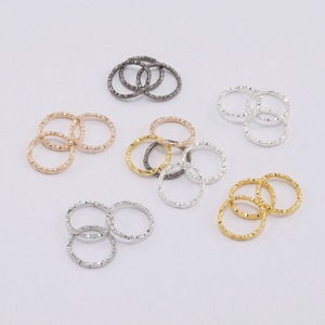 50-100pcs 8-20mm Silver Round Jump Rings Twisted Open Split Rings jump rings Connector For Jewelry Makings Findings Supplies DIY