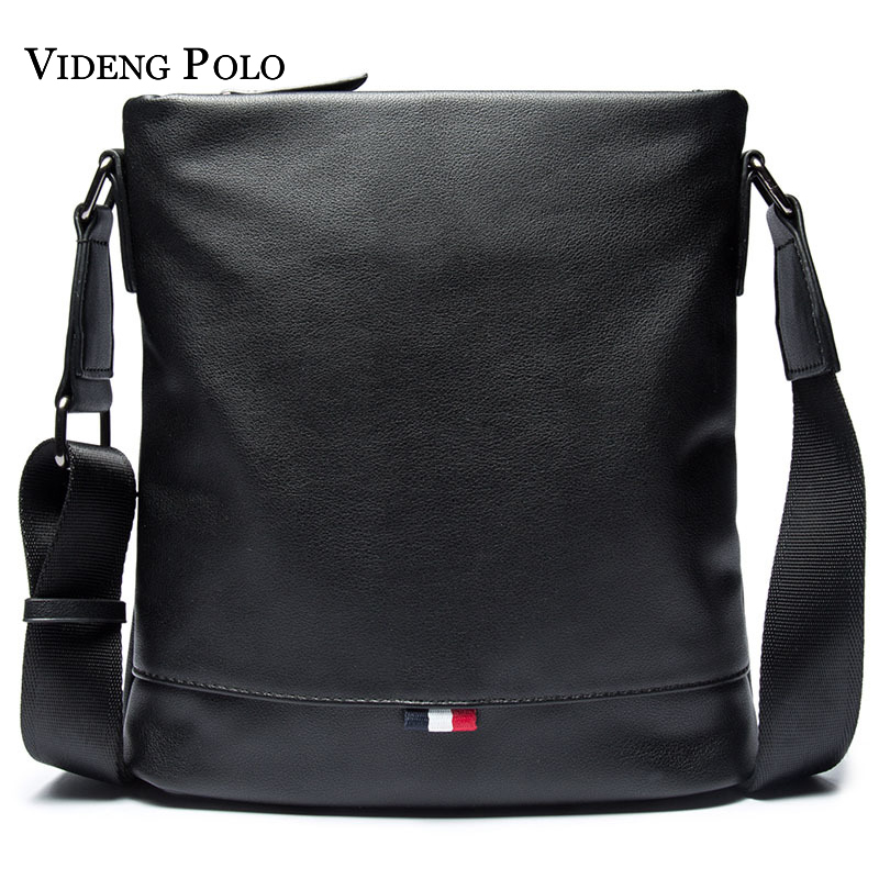 VIDENG POLO Brand Casual Male Messenger Bags Leisure Shoulder Bag Business Man's Shoulder Crossbody Bags For Men Leather Bolsa