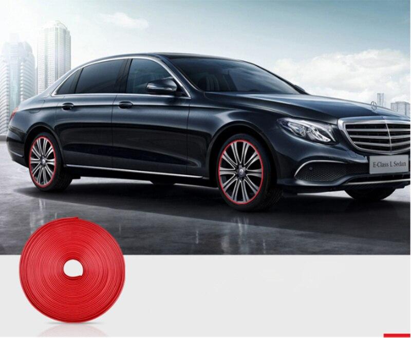 Car Wheel Hub Sticker Strip Rim Tire Protection for Citroen Picasso C1 C2 C3 C4 C4L C5 DS3 DS4 DS5 DS6 Elysee C-Quatre Triomphe