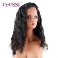 YVONNE 180% Density Brazilian Virgin Hair Body Wave Lace Front Human Hair Wigs Natural Color Free Shipping