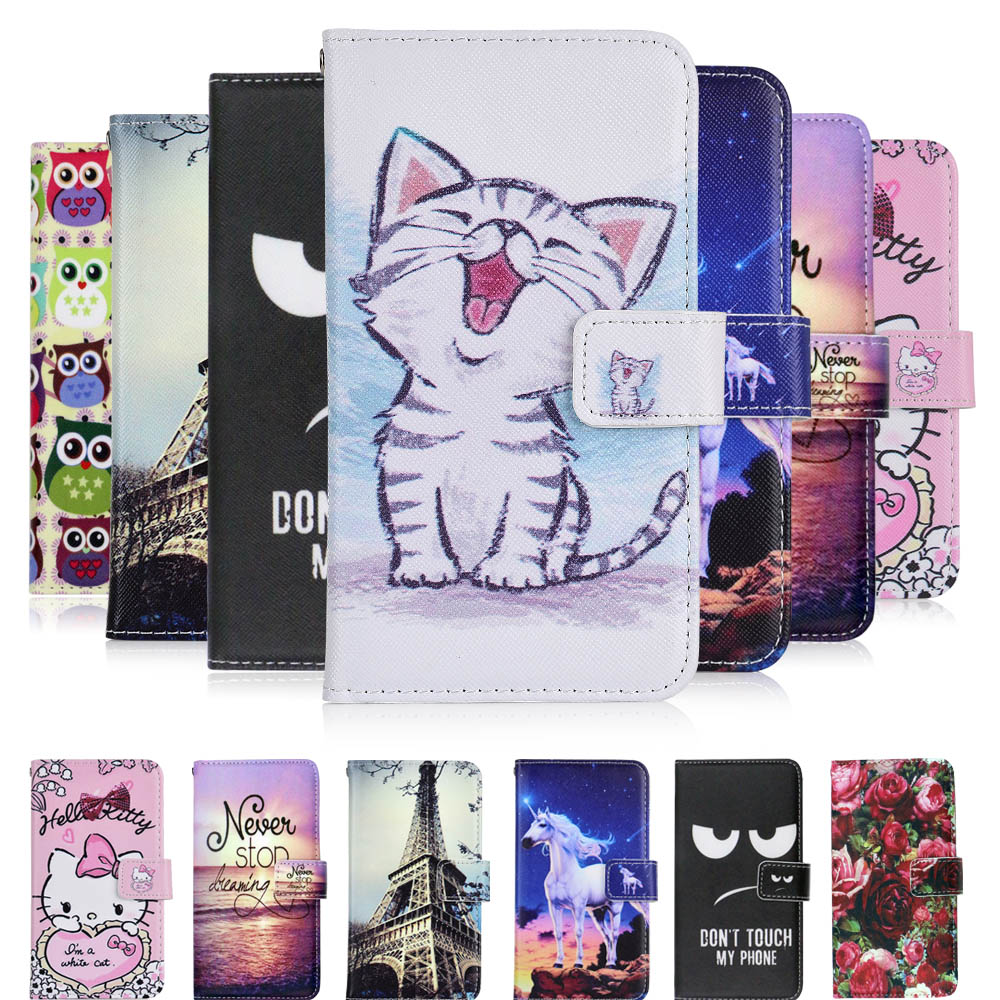 Flip Cases Phone Bags & Cases Case For Prestigio Wize Ok3 Case Fashion Cartoon Pattern High Quality Leather Protective Cover Mobile Phone Bag