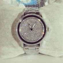 2016 Marca Famosa Llegada Custom Cristales Austríacos de Lujo Las Mujeres Del Reloj de Señora Reloj de Oro Rosa Rhinestone Bangle Bracelet
