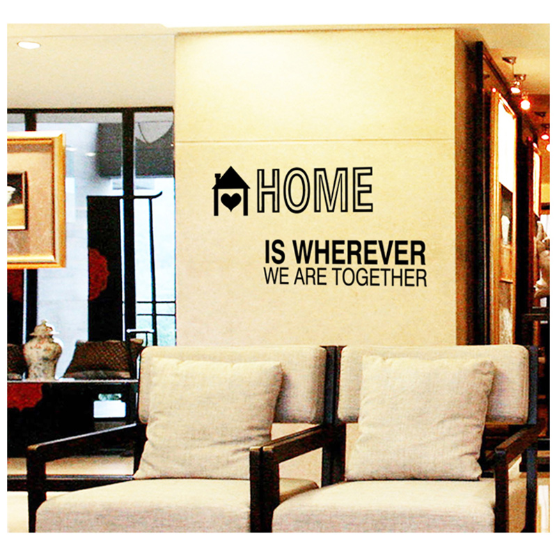 Hot sale wall sticker \' Home is where we are together \' romantic ...