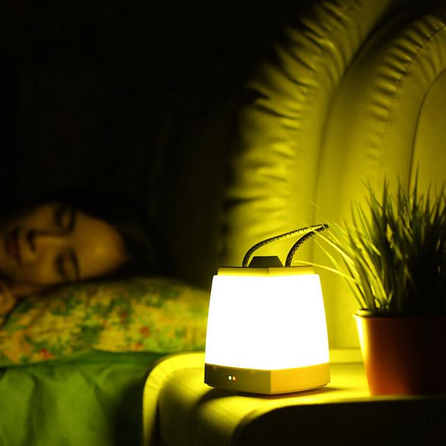 USB Recarregável Luz CONDUZIDA Da Noite Brilho Stepless Ajustável Auto-Off Timer Pendurado Corda Lâmpada Para O Quarto Quarto de Bebê Camping