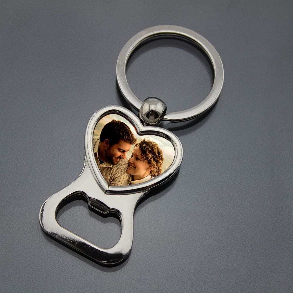 Personalized Wedding Favors and Gifts Customized Picture Photo Key Ring Bottle Opener Personalized Heart Keychain with