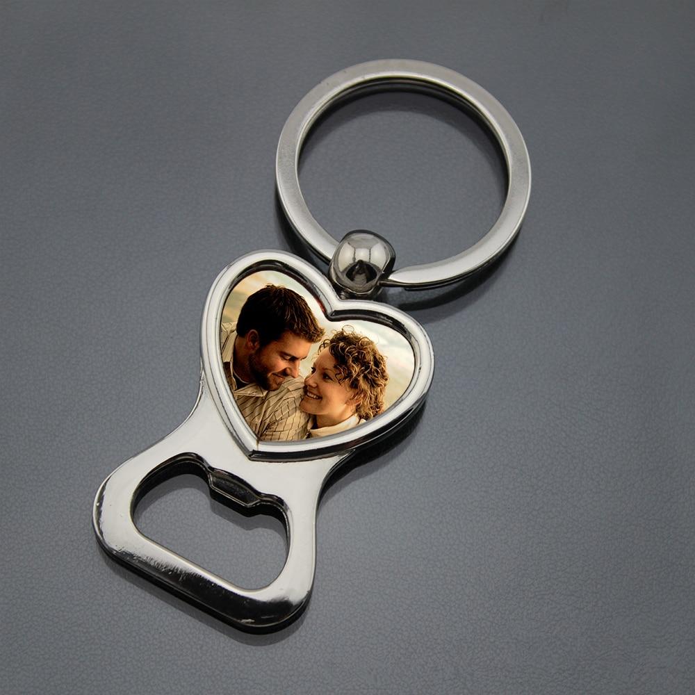 개인화 된 결혼식 호의 및 선물 주문을 받아서 만들어진 그림 사진 열쇠 고리 병따개 개인화 된 심혼 keychain with photo-에서파티 취향부터 홈 & 가든 의  그룹 1
