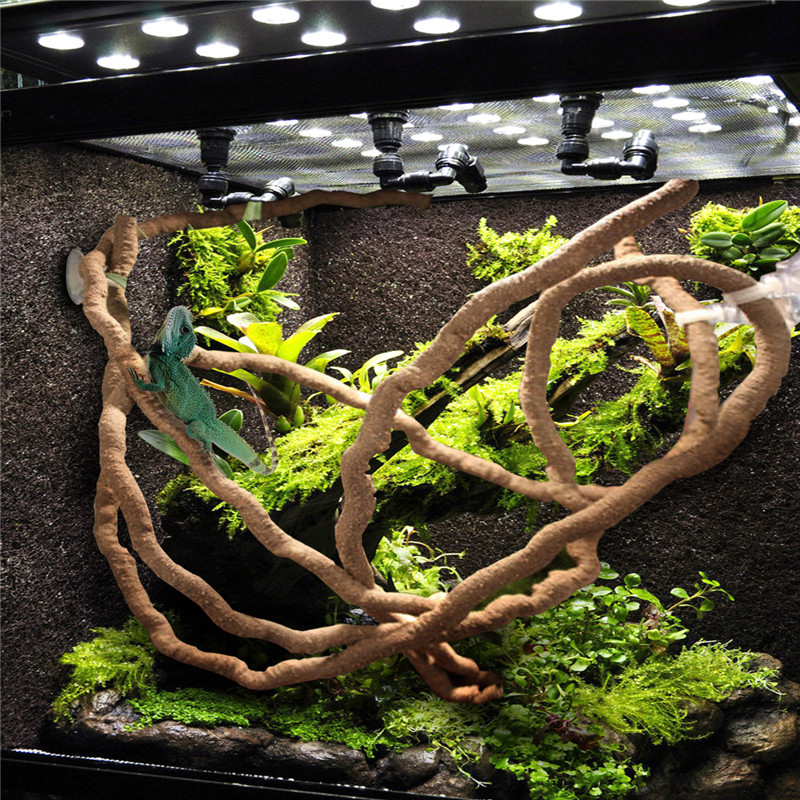 1.5/2.5/3m Large Flexible Vines Habitat Decor Bendable Jungle Climber Reptile Pet Supplies Reptiles Terrarium Decoration