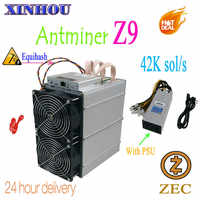 Used Bitmain Antminer Z9 42k sol/s Equihash ASIC miner mining ZEC Better than Innosilicon A9 antminer z9mini S11 Z11 S15 M3X T17
