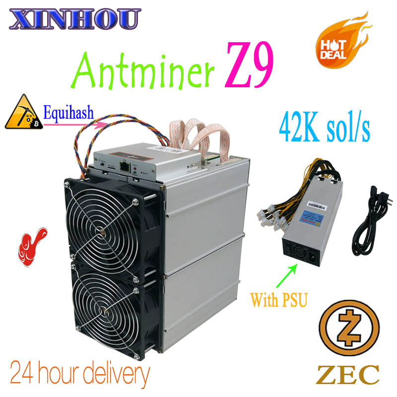 Utilizzato Bitmain Antminer Z9 42 k sol/s Equihash ASIC minatore minerario ZEC meglio di Innosilicon A9 antminer z9mini s11 Z11 S15 M3X T17
