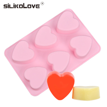 SILIKOLOVE DIY силиконовые мыло формы для мыла 3D 6 форм овальное мыло ручной работы ремесло цветы Ванная комната Кухня мыло формы