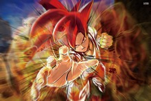 dragon ball z dbz anime fantasy KA656 living room home wall modern art decor wood frame poster
