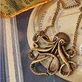 Солнце античная бронзовая осьминог Ожерелье