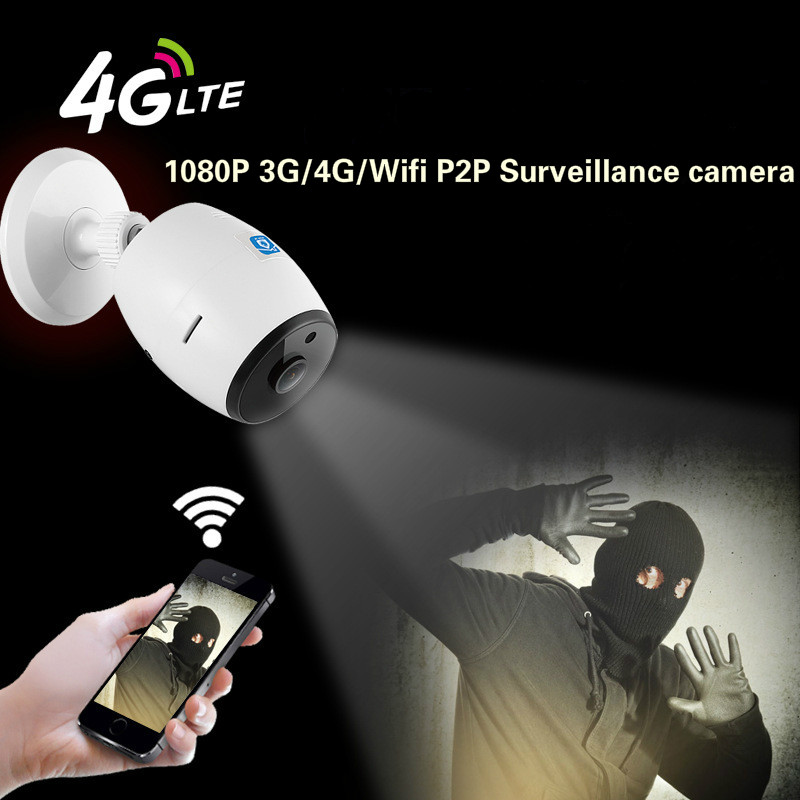 2MP 3G/4G wifi IP cameras P2P motion detection wireless CCTV cameras two way audio 4G wire free IP cameras Push alarm IP CAM