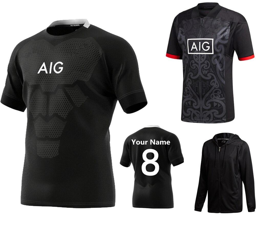 3493cf86d0a 저렴한 Custom name 한 접점 2019 뉴질랜드의 Super rugby Jerseys 홈 away 리그 shirt 마오리어