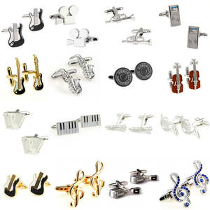 Cufflink Musical-Instrument 16-Styles Biggest 1-Pair Promotion Hot-Sale