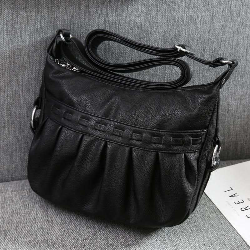 Women\'S Leather Handbags Shoulder Bags Ladies Messenger Bag Hobos Bolsas Feminina