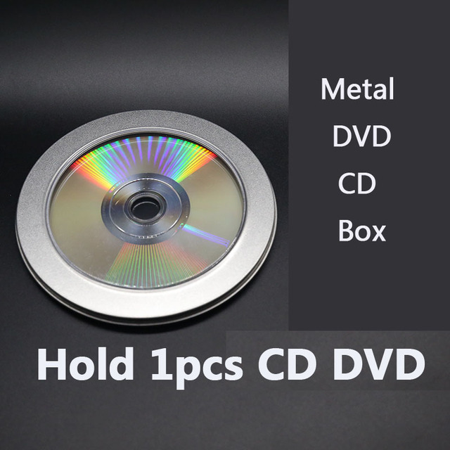 10pcs round boxes for open window cd dvd disc rw cover metal box