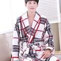 Men XXXL Plus Size Coral Fleece Flannel Warm spa Bath Robe Pyjama Dressing Gown Sleepwear Bathrobe man sleepwear homewear clthes