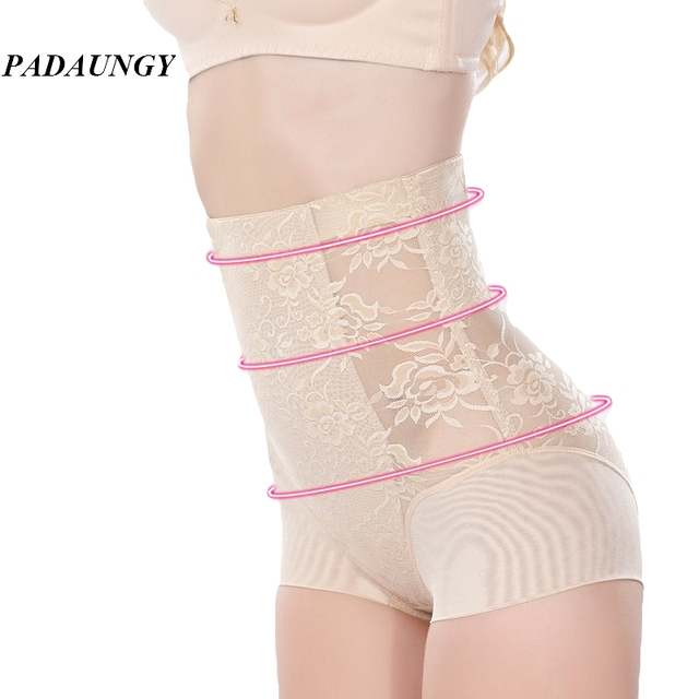 PADAUNGY Butt Lifter Panties Lace Corrective Waist Shaper Slimming Underwear Hot Shapers For Women Control Panties Underwear