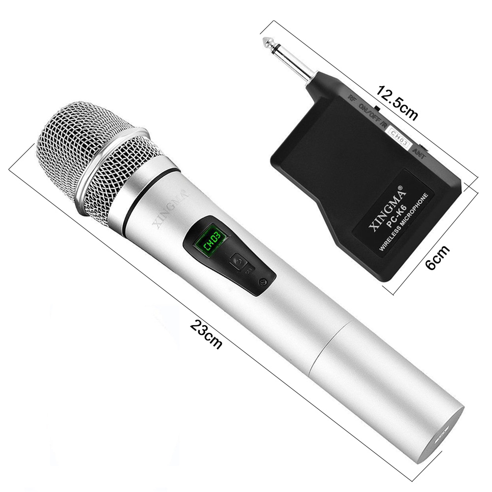 XINGMA PC-K6 Wireless Microphone Karaoke professional Studio Vhf Dynamic Handheld Mic For Computer Pc KTV System With Receiver 15