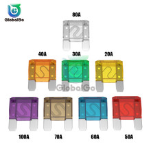 50pcs/Lot Large Automotive Car Blade Fuse 20A 30A 50A 60A 40A 70A 80A 90A 100A 3*3.5*0.95CM Truck Motorcycle