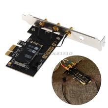 CA 1750 M de Doble Banda PCI-E BCM94360CS BT4.0 Wifi Wireless Card Adaptador W/Antena # R179T # envío de La Gota gratis