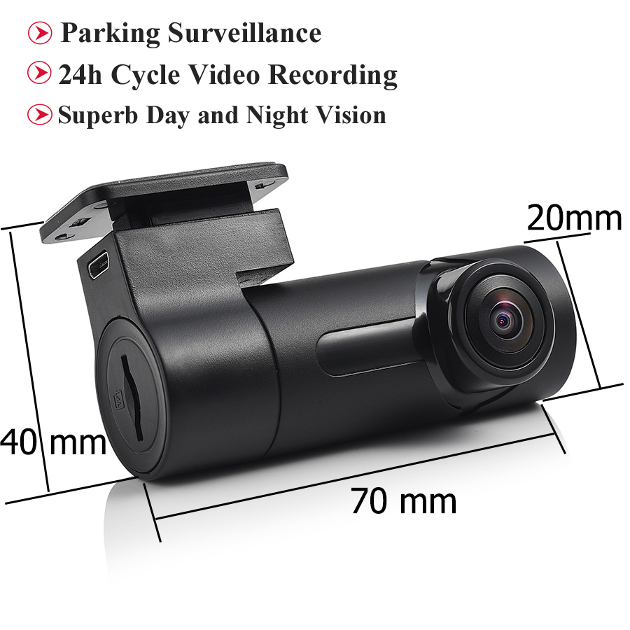 Mini Wireless HD 1080P 140° Wide Angle Car Hidden Camera DVR Recorder Tachograph