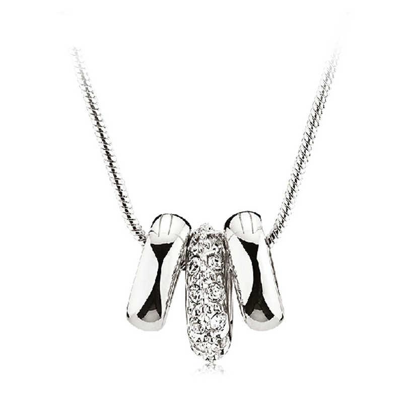 האוסטרי AAA Zirconia קריסטל תליון שרשרת 18KGP זהב צבע שרשרת נשים אופנה קסם תכשיטי משלוח חינם (CN017)