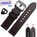 Assista acessórios genuínos pulseira de couro relógio com preto 22 | 24mm para o sexo masculino.