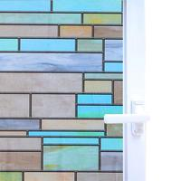 Funlife 90x200cm Privacy Window Covering Brick Stained Glass Window Film Waterproof Static Window Cling Self adhesive Sticker