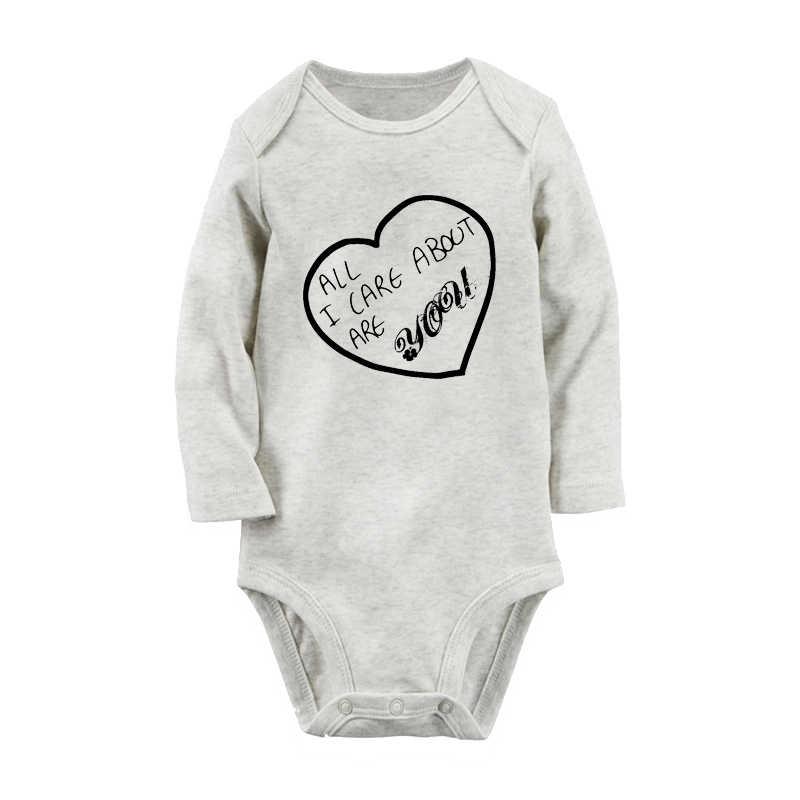 Есть все, что я заботится о вас, шрифт, черный любовь печати, Одежда для новорожденных, комбинезон с длинными рукавами, 100% хлопок, боди для младенцев