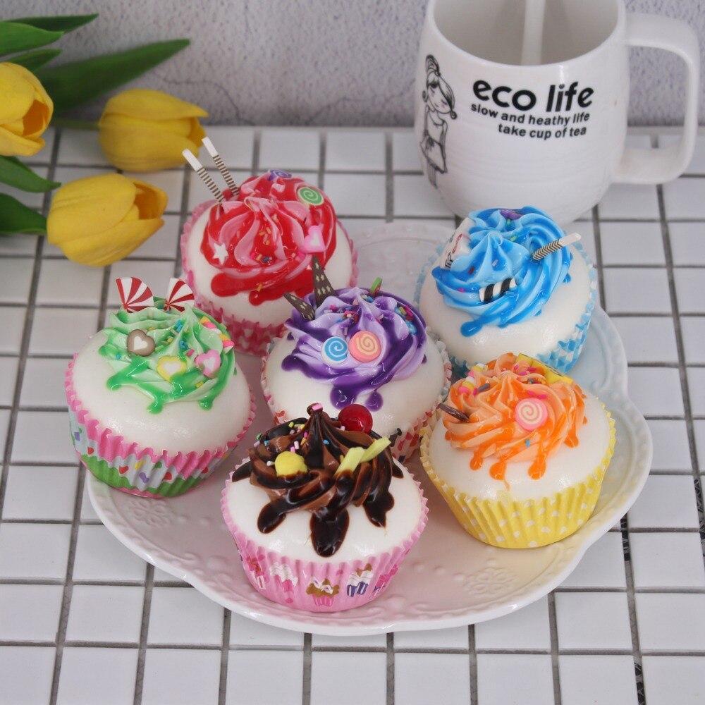 6Pcs//Set Dollhouse Miniature Food Bakery Cakes Doll House Kitchen Food Decor Te