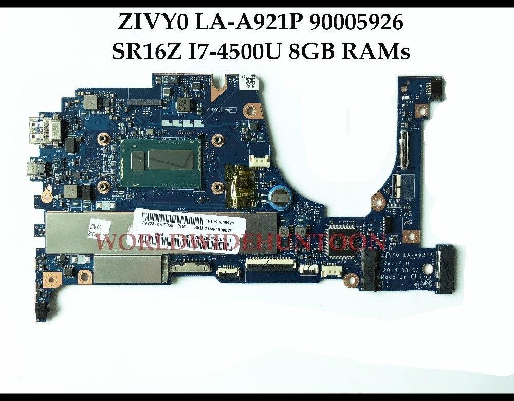 Wholesale Brand New ZIVY0 LA A921P FOR Lenovo YOGA2 13 Laptop Motherboard FRU 90005926 SR16Z I7