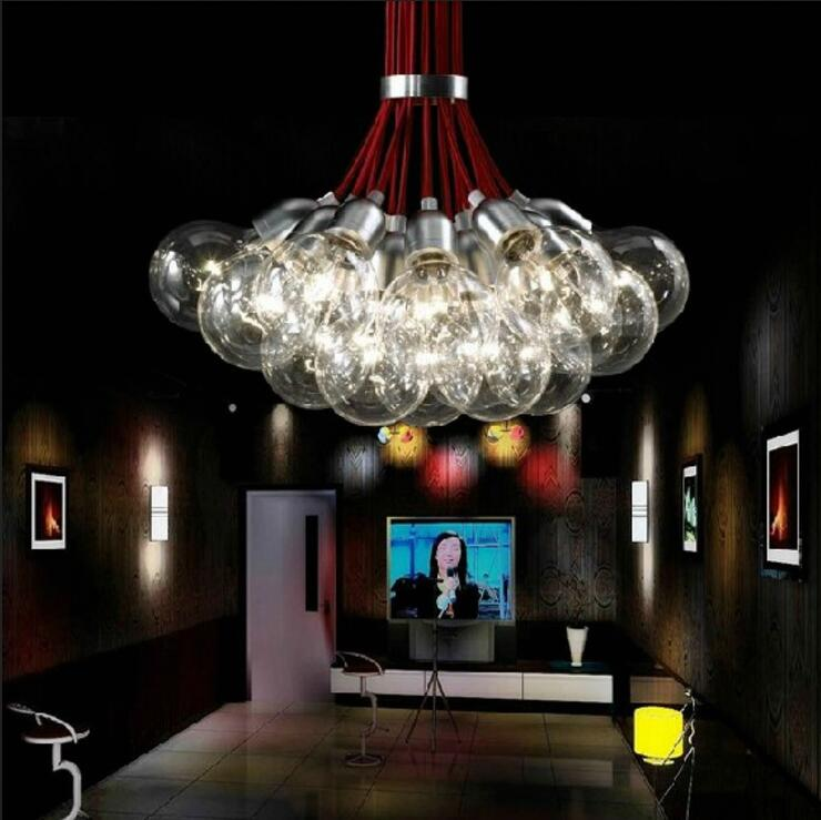New 19 Lights Idle Max Sea Urchins Glass pendant Light Lamp EMS dining room lights bar hone lighting ZL332